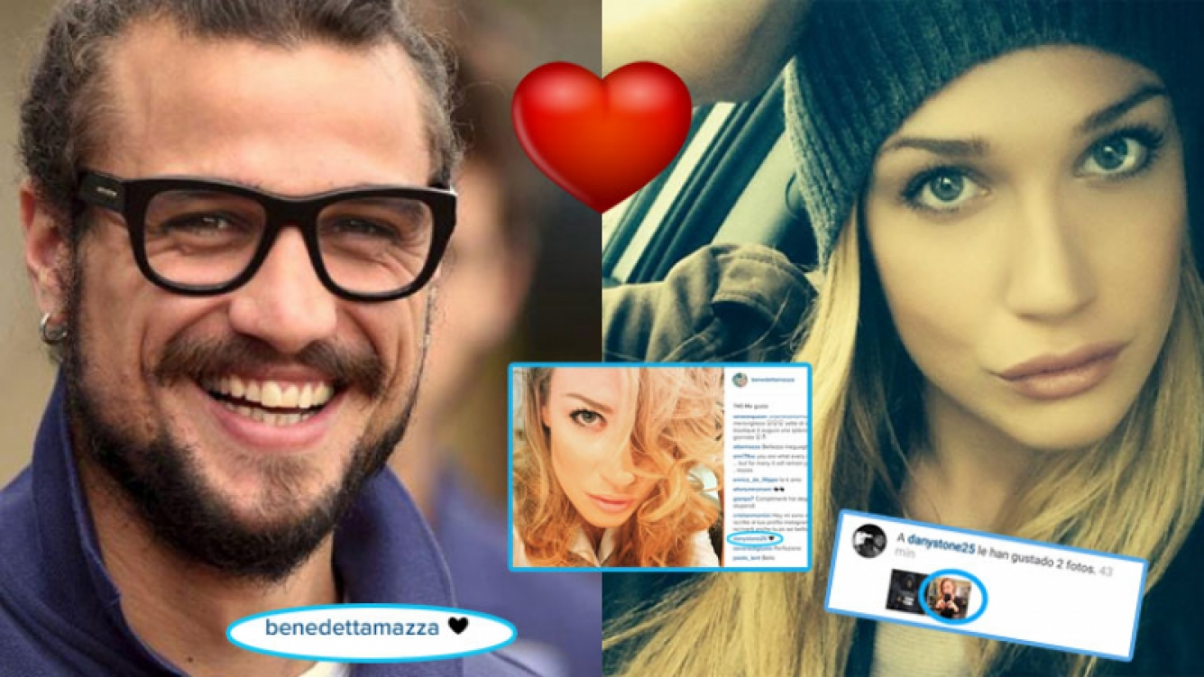Daniel Osvaldo y Benedetta Mazza, a full (Fotos: Web).