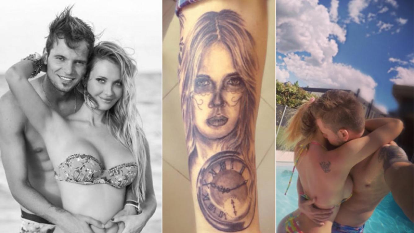 Fabián Assmann se tatuó el rostro de Melina Pitra al estilo de La Catrina, la diosa de la muerte. (Foto: Twitter)