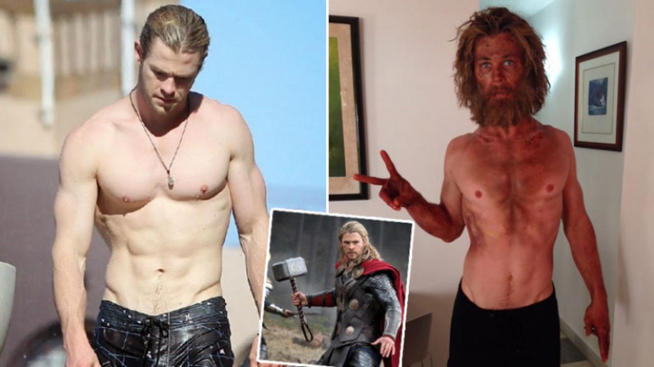 Chris Hemsworth y su sorprendente transformación. Foto: Twitter y Web