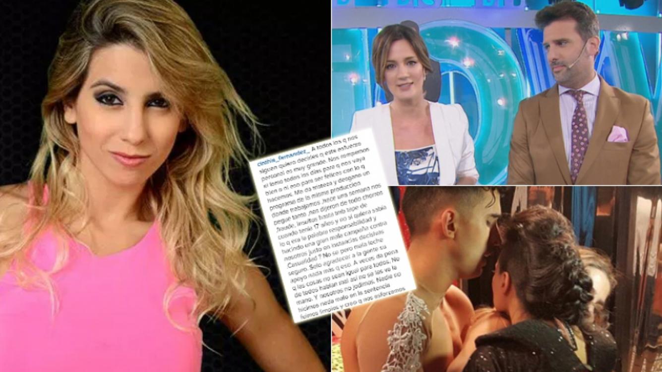 Cinthia Fernández y un descargo furioso contra Este es el Show (Foto: web e Instagram)