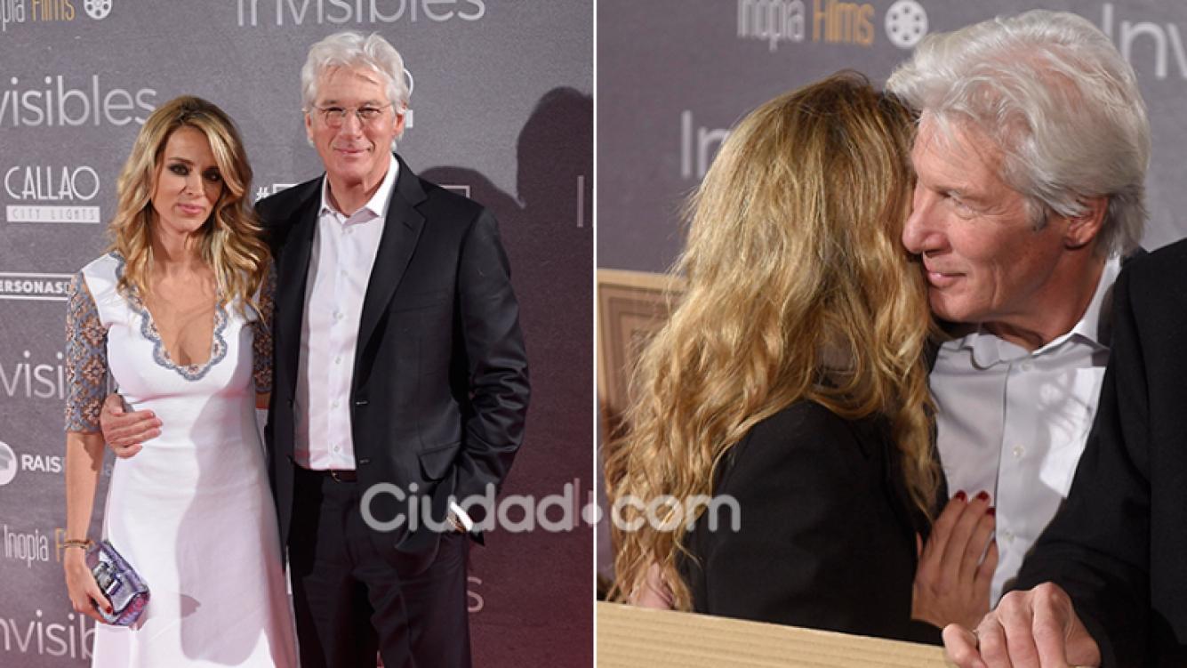 Richard Gere y su primera foto oficial con Alejandra Silva. Fotos: Grosby Group.