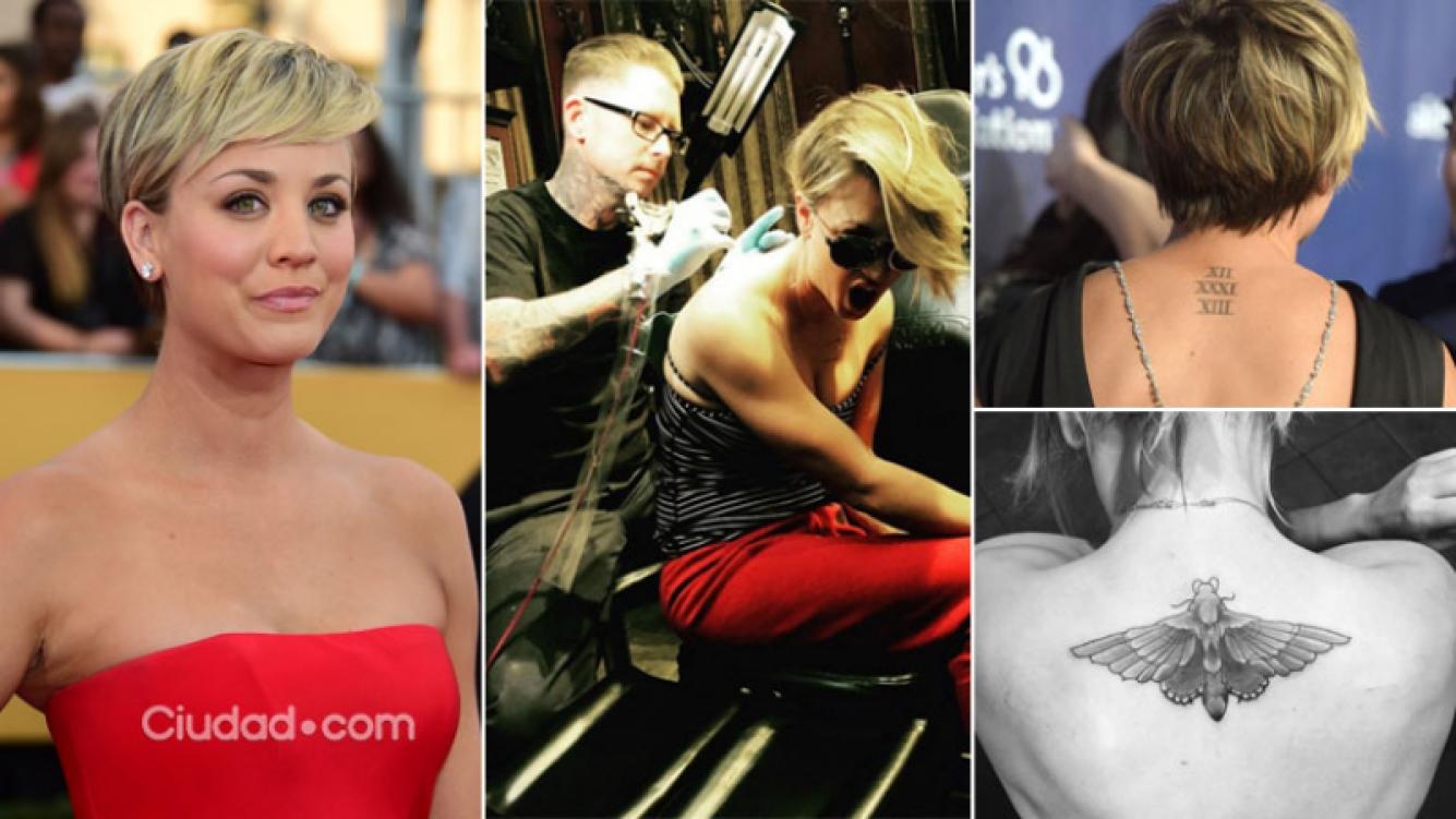 Kaley Cuoco se tapó el tatuaje dedicado a su exmarido. (Foto: Instagram y AFP)