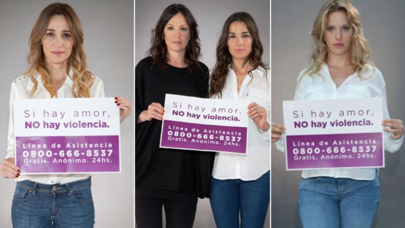 """#NoALaViolenciaDeGénero: famosas protagonizaron la campaña """"Si hay amor, no hay violencia"""". (Foto: Web)"""