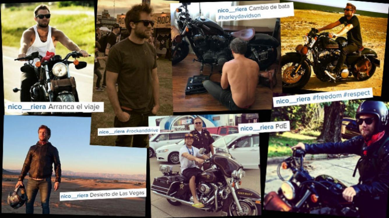 Nico Riera, un galán motoquero. (Foto: Instagram)