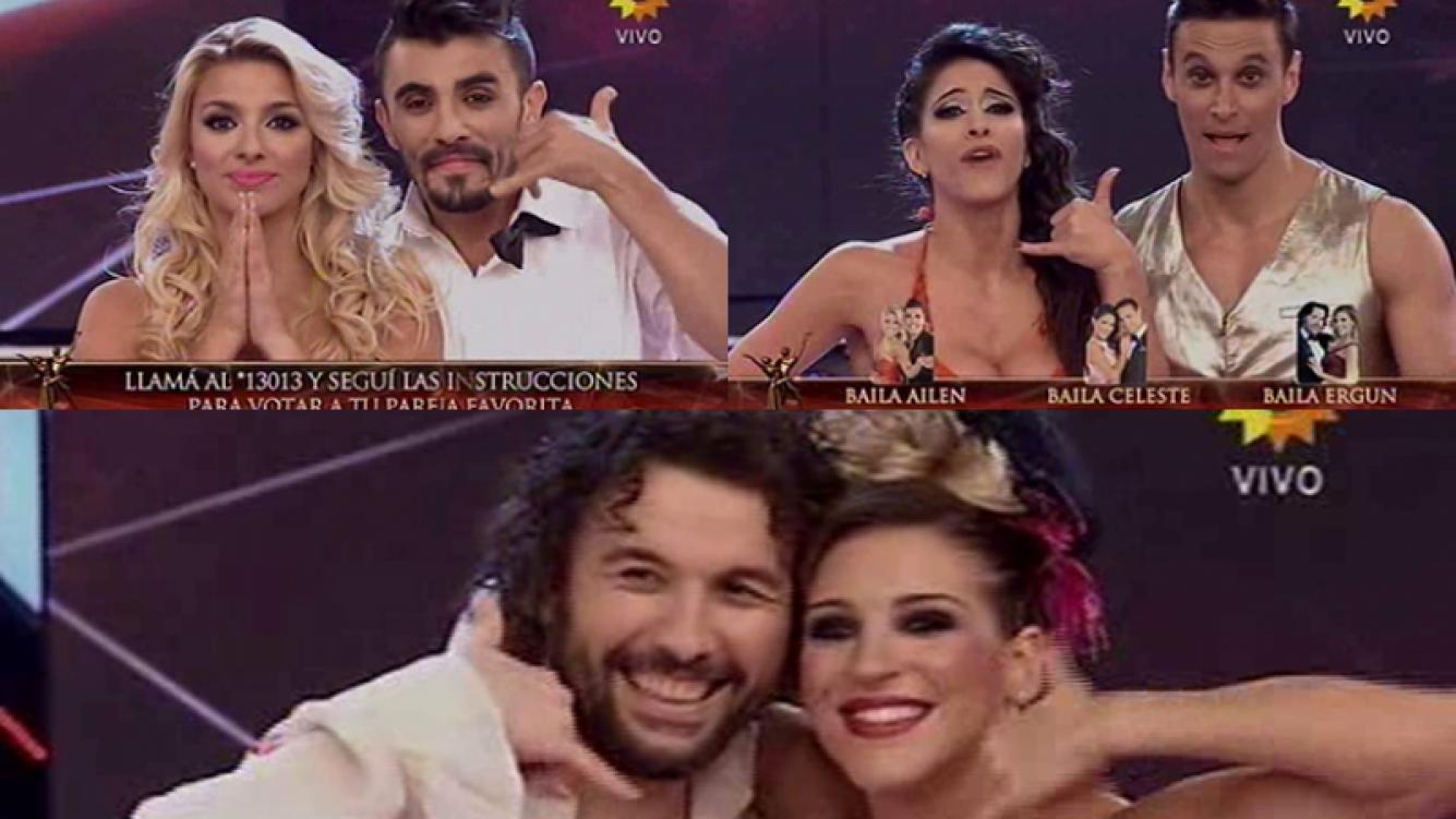 Ergün, Ailén y Muriega, sentenciados en ritmo libre. Fotos: Capturas TV.
