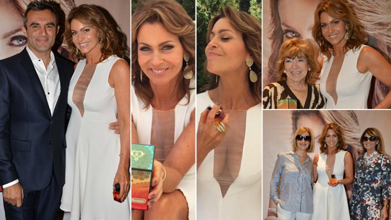 Karina Mazzocco presentó su perfume. Foto: gentileza prensa Najún-Funes.