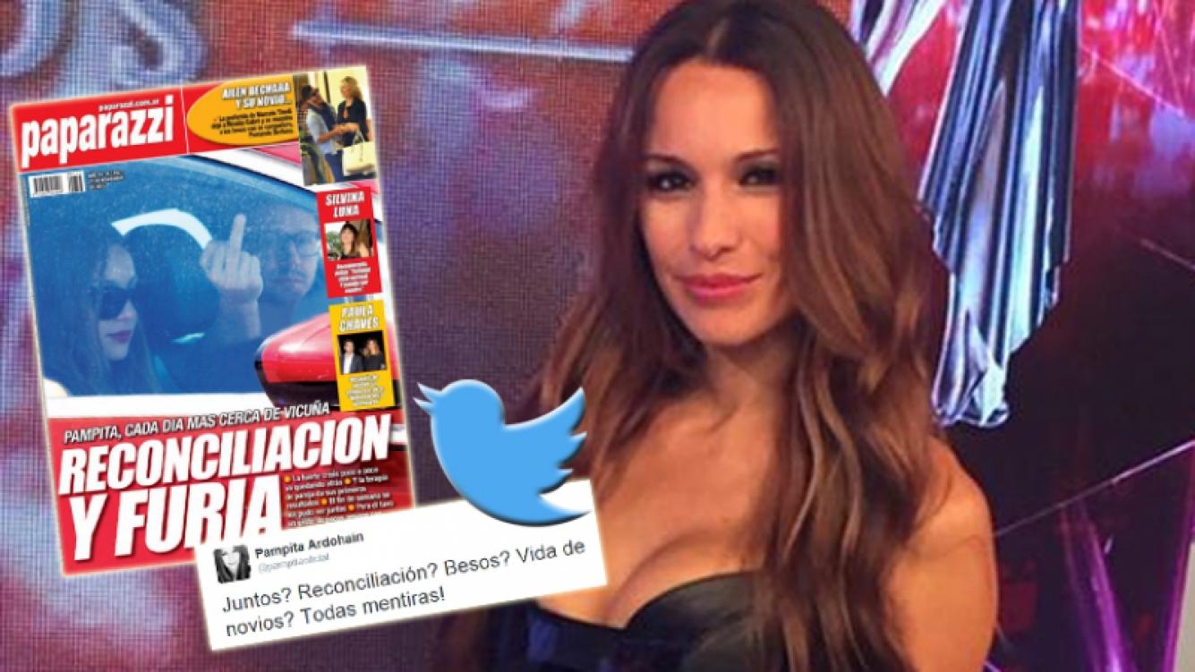 Pampita desmintió la tapa de Paparazzi con un contundente tweet (Foto: Web, Twitter y Paparazzi)