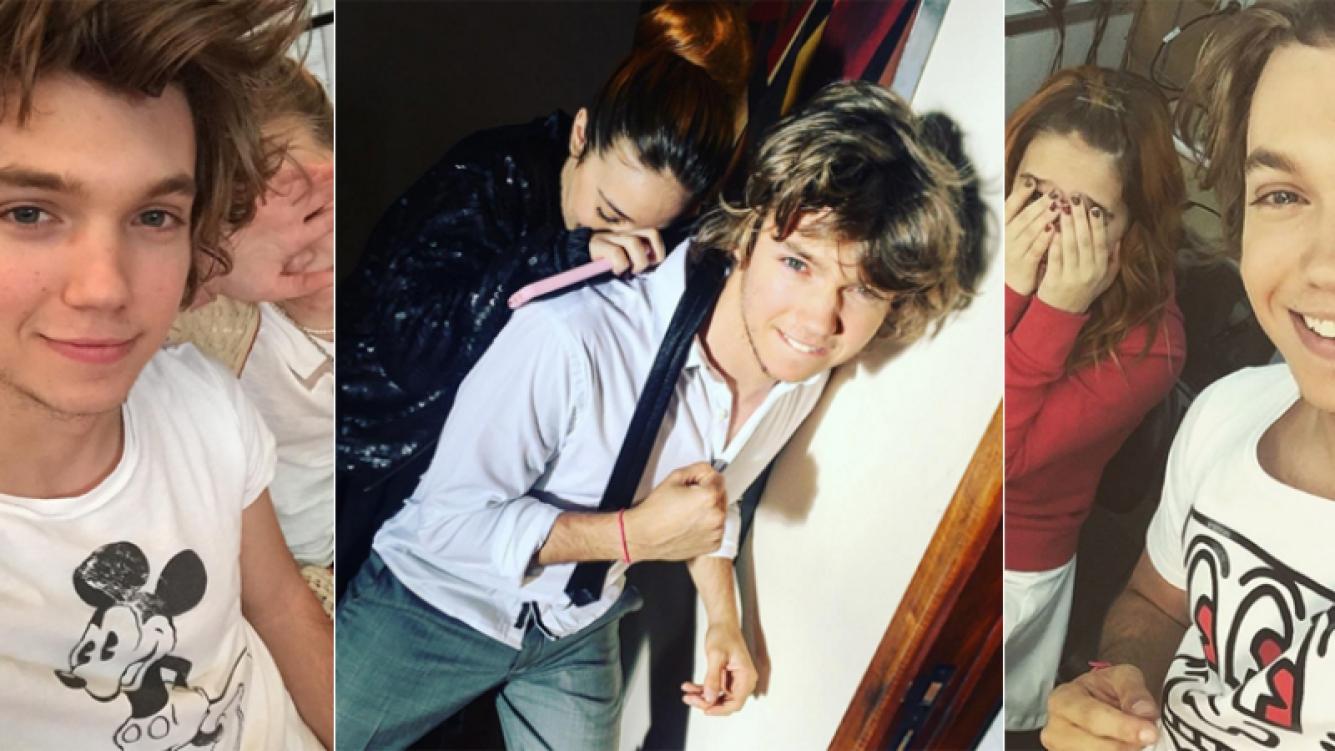 Franco Masini y sus divertidos retratos con Ángela Torres (Foto: Instagram)