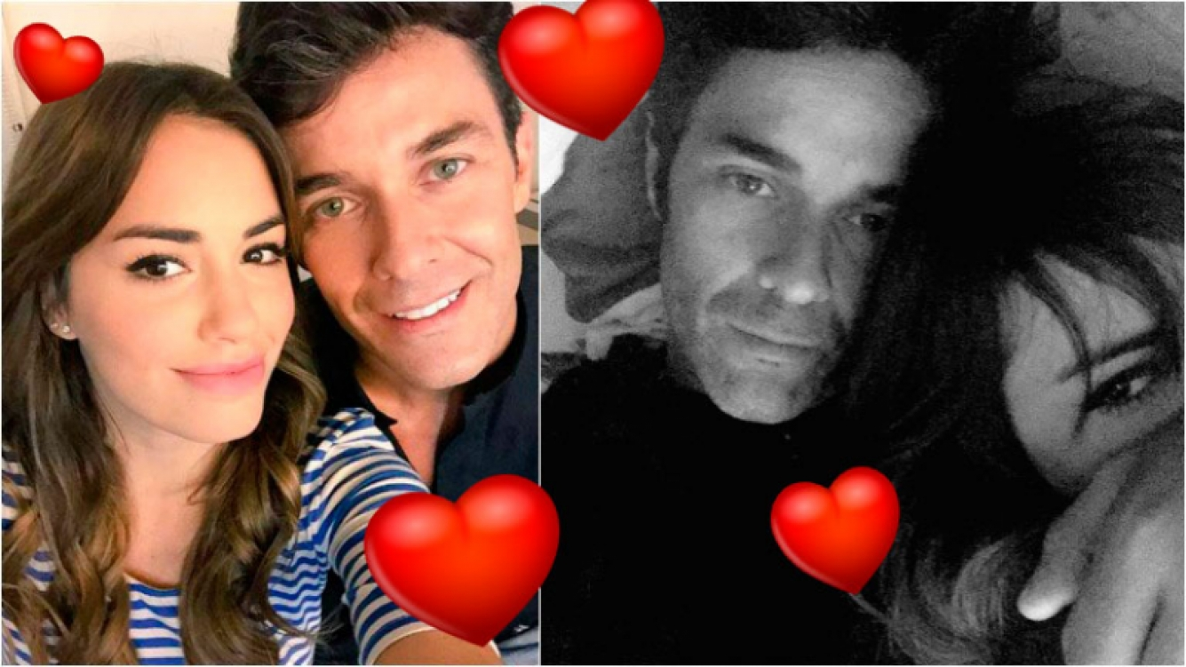 Mariano Martínez y Lali Espósito en una selfie súper de entrecasa. Foto: Twitter