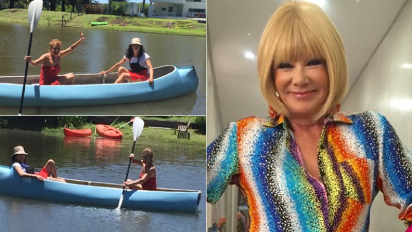 Soledad Silveyra y sus desopilantes fotos en una canoa (Foto: Twitter)