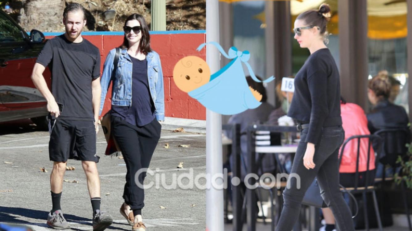 Anne Hathaway lució espléndida su pancita de embarazada (Fotos: GrosbyGroup).
