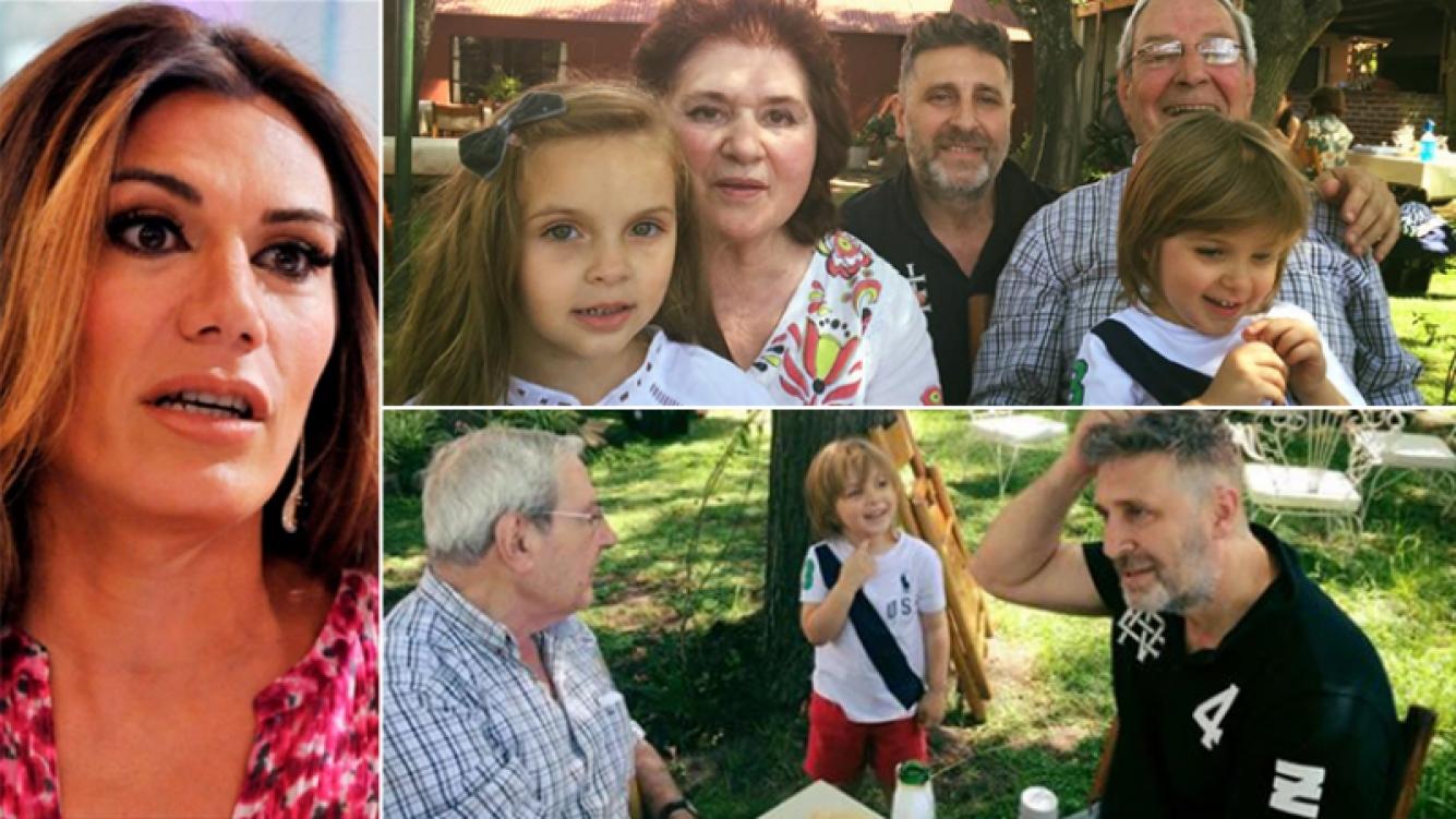 Flor de la Ve y su despedida para su suegro. Fotos: Web y Facebook.