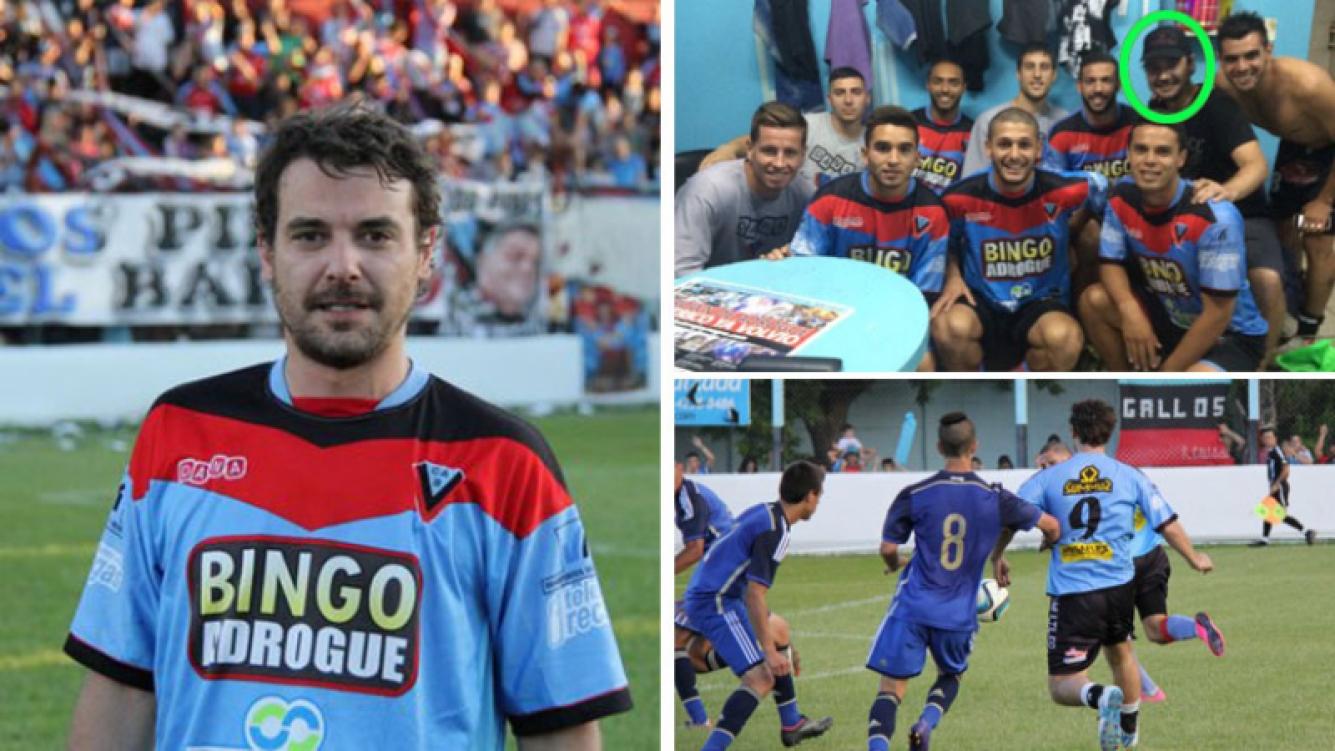 Pedro Alfonso festejó el ascenso de Brown de Adrogué. (Foto: Twitter)