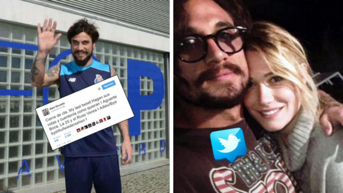 Daniel Osvaldo oficializó su romance con Bendetta Mazza y al día siguiente cerró su Twitter. Foto: Web