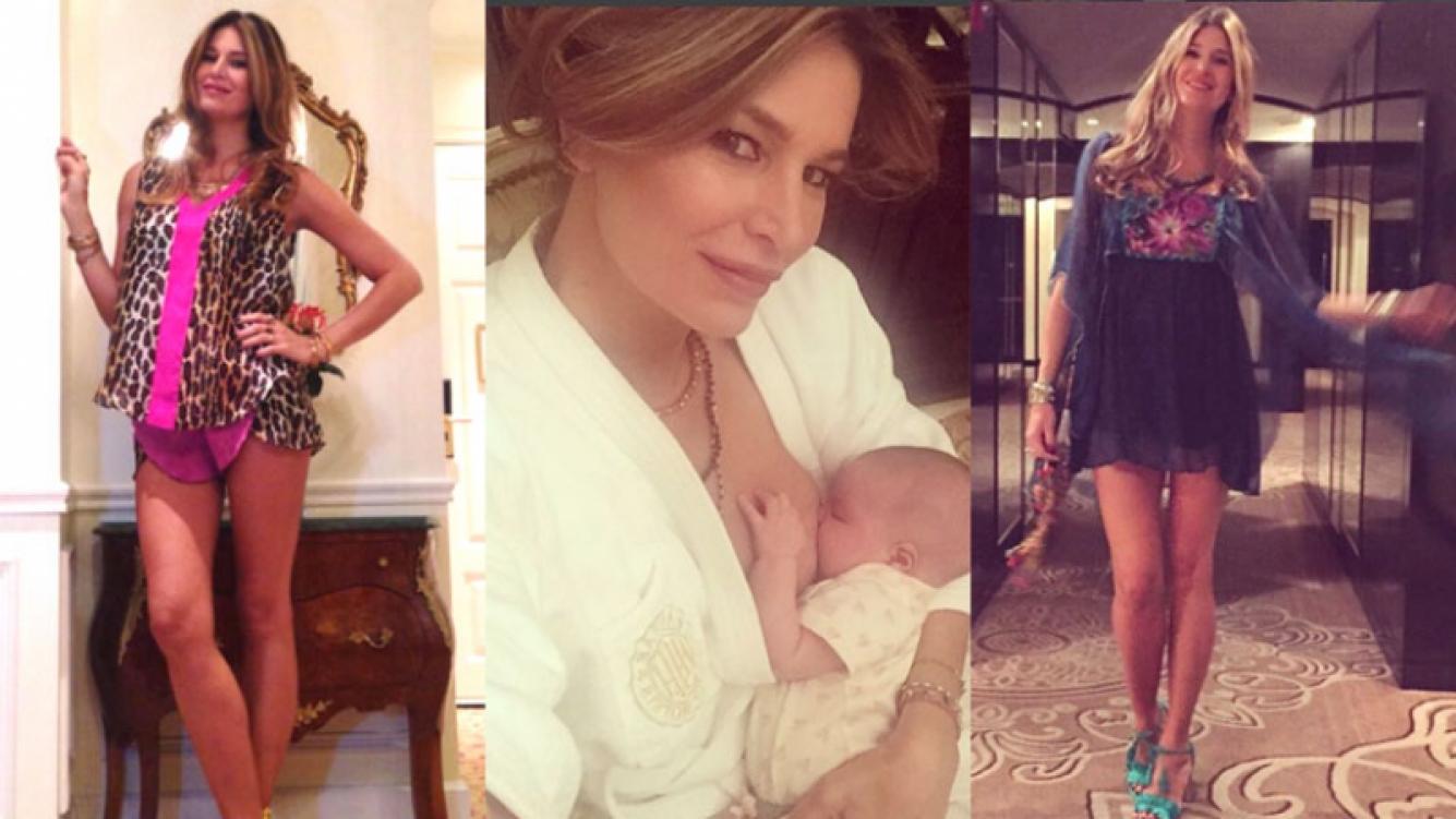 Dolores Barreiro sorprendió con su figura a un mes de ser mamá (Fotos: Instagram)l.