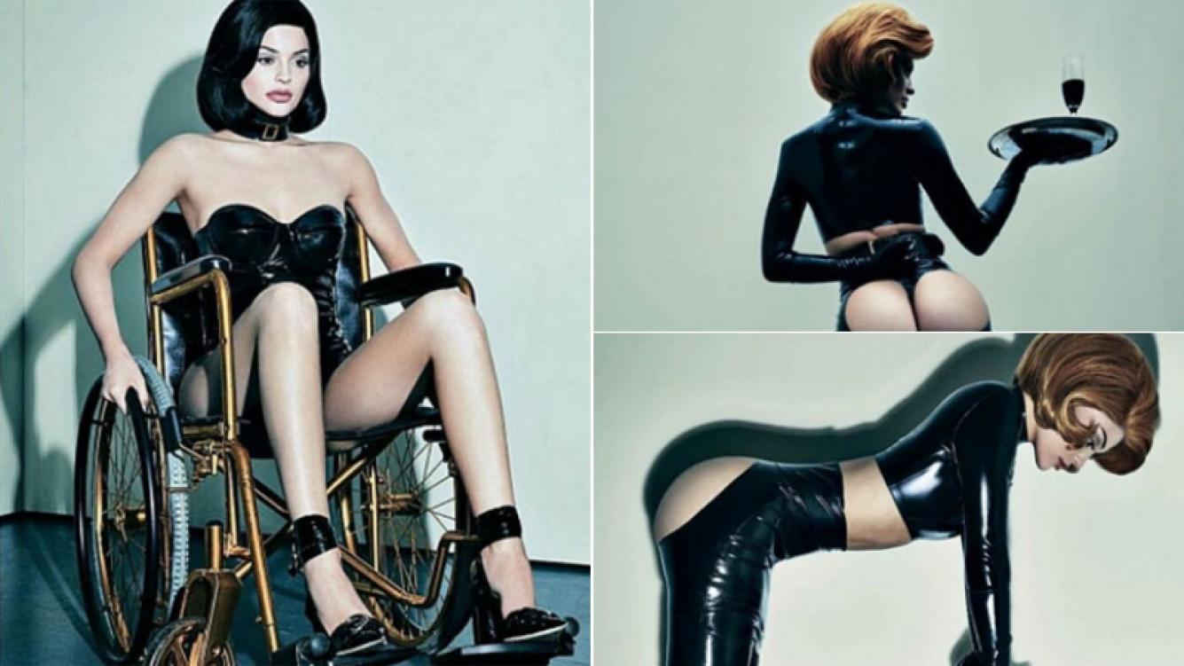 Kylie Jenner jugó a ser una dominatrix en una llamativa sesión (Fotos: Interview).