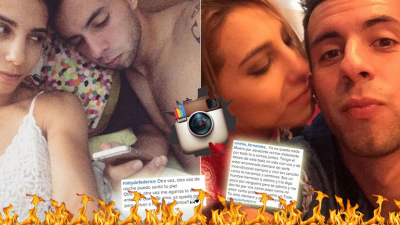 Los apasionados mensajes de Cinthia Fernández y Defederico ¡con cinco meses de abstinencia! (Foto: Web)