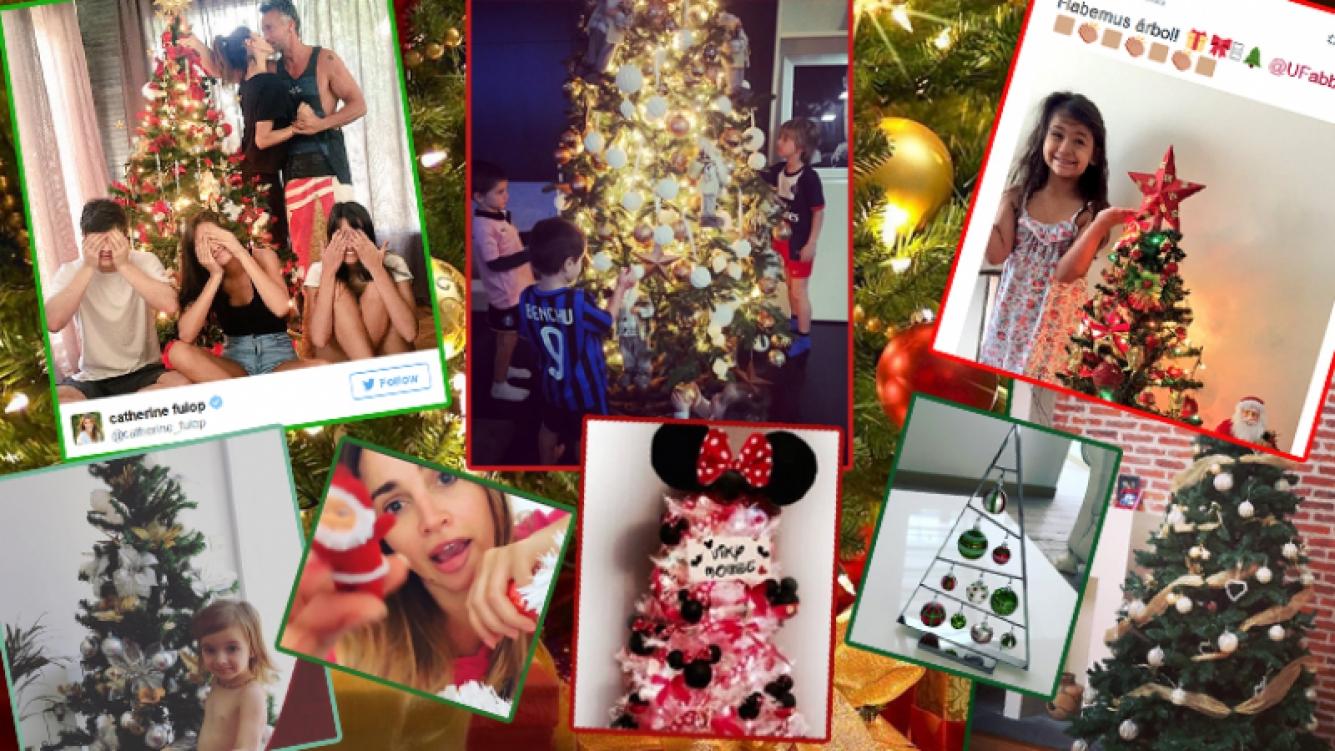 Los famosos armaron sus arbolitos. Fotos: Instagram y Twitter.