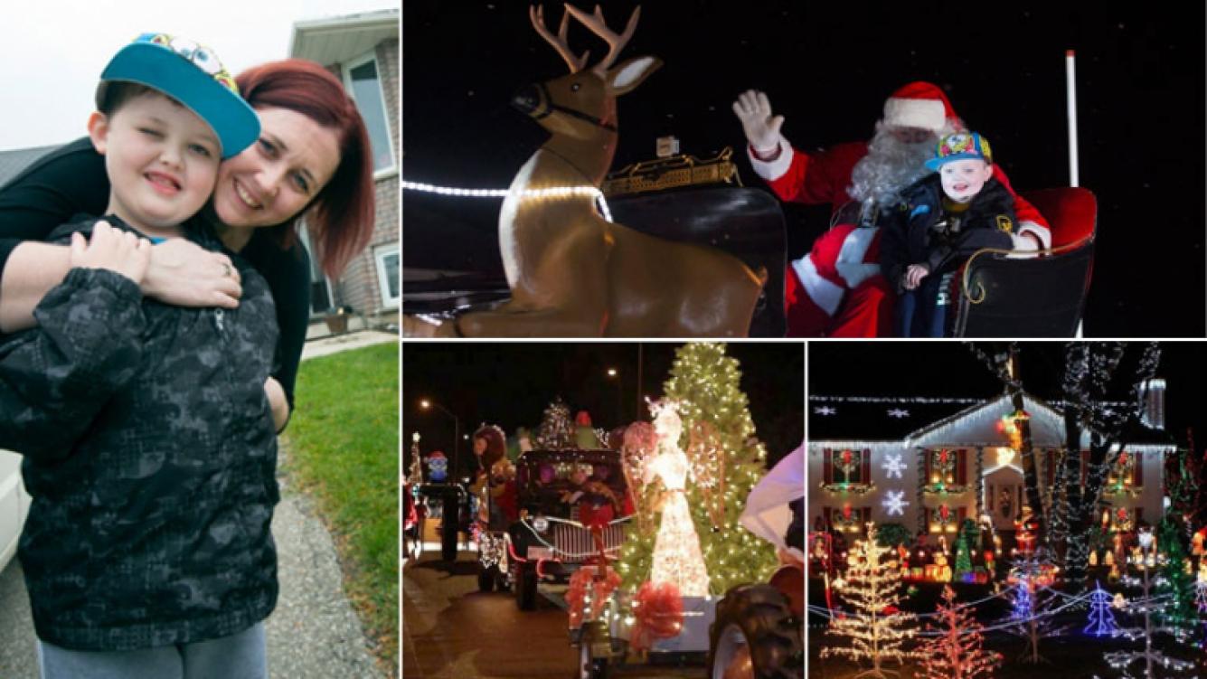 La historia más conmovedora de esta Navidad: el pueblo adelantó la Noche Buena por un niño enfermo de cáncer. (Foto: Web)