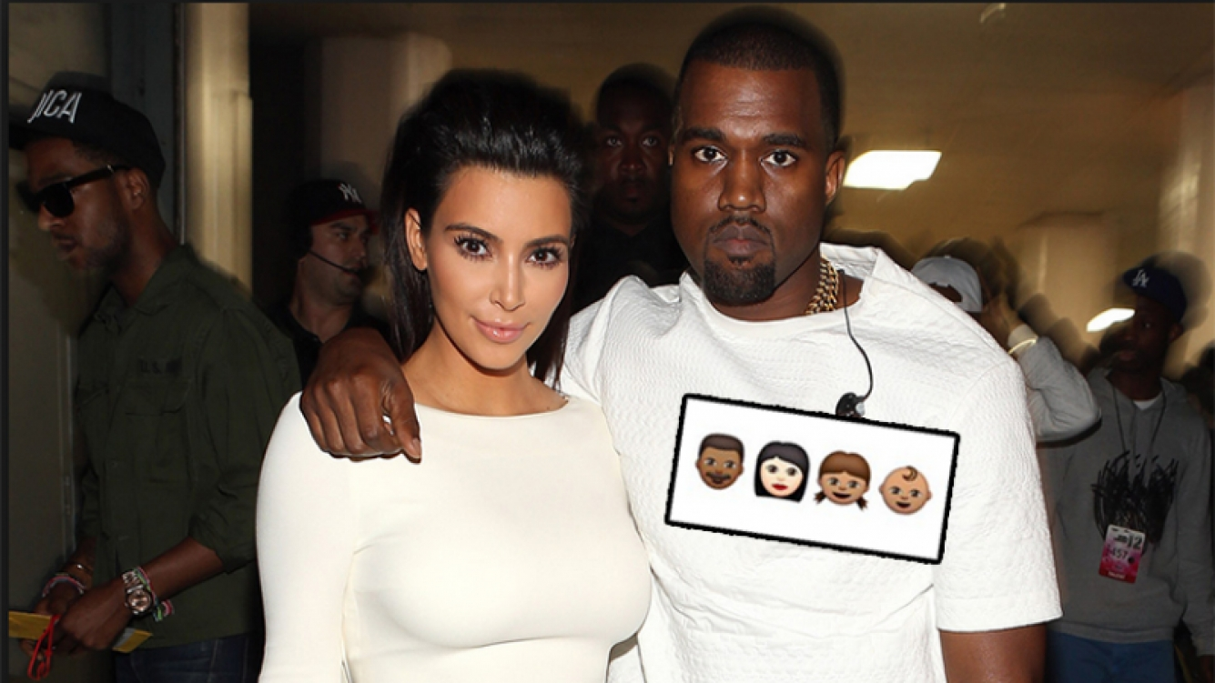 Kim Kardashian y Kanye West fueron papás de Saint. Fotos: Twitter y Web.
