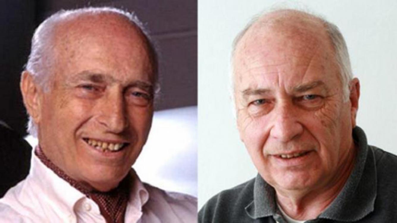 A Cacho Espinosa, a la derecha, le dio positivo el ADN con Fangio. Fotos: Web.
