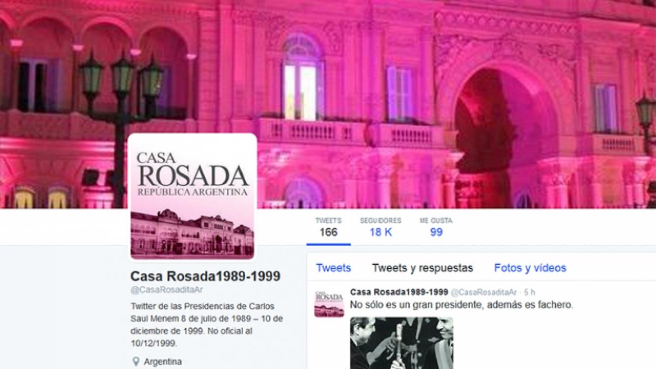 La parodia de la cuenta de la Casa Rosada. Foto: Twitter.