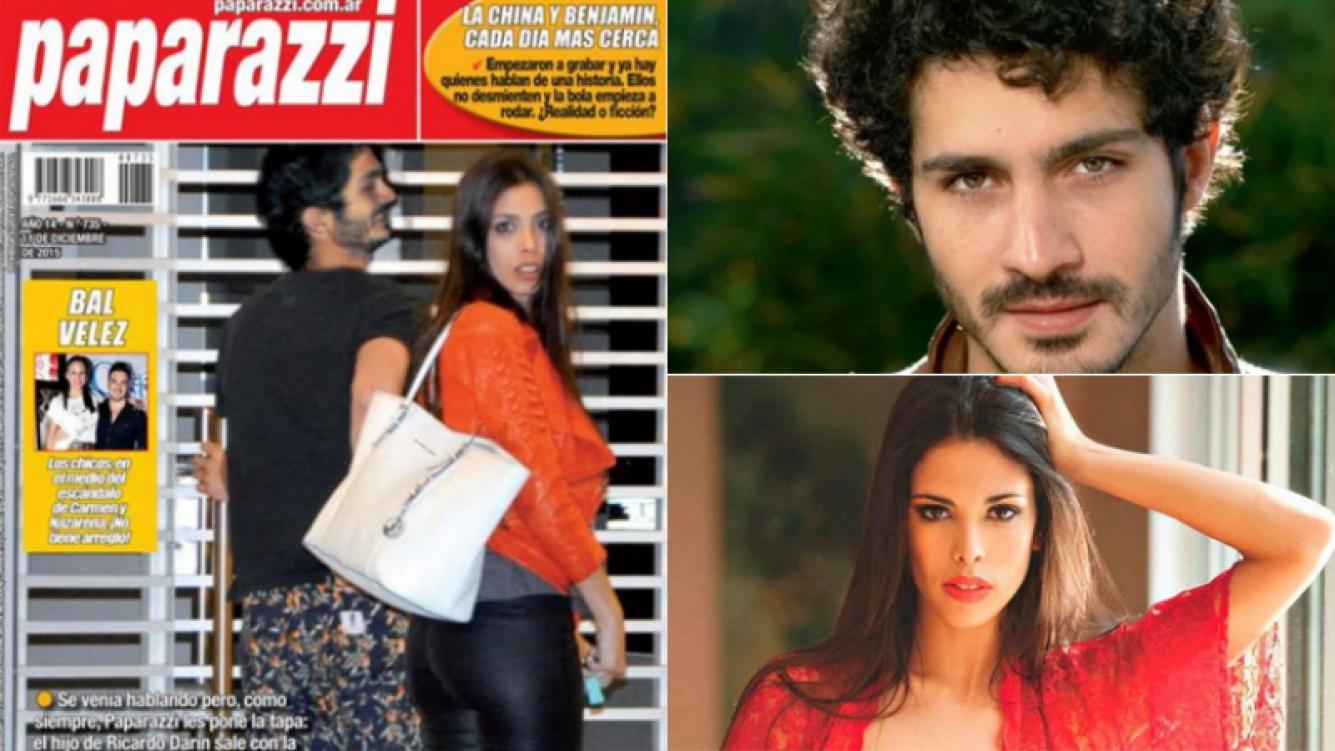 Chino Darín y Maypi Delgado, in fraganti en el departamento del actor (Foto: revista Paparazzi y web)