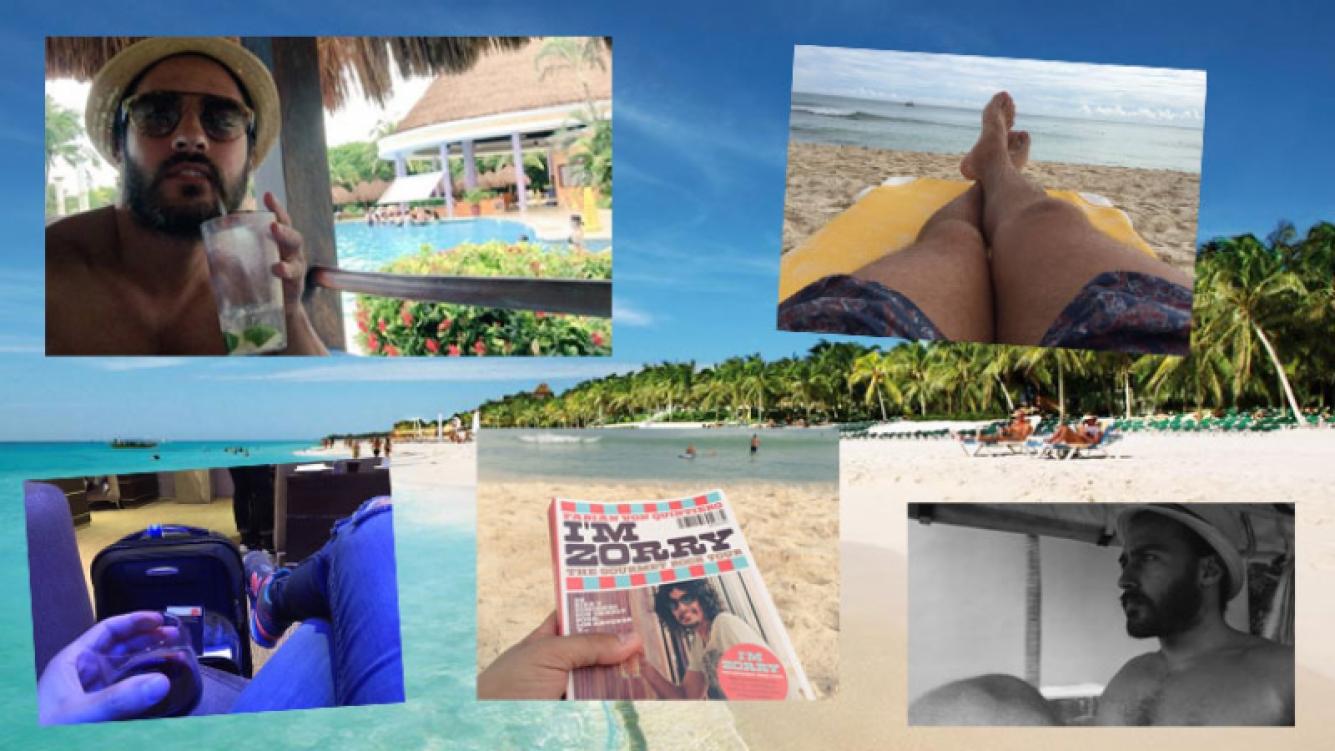 Las vacaciones de soltero de Nico Francella en la paradisíaca Playa del Carmen. (Foto: Twitter)