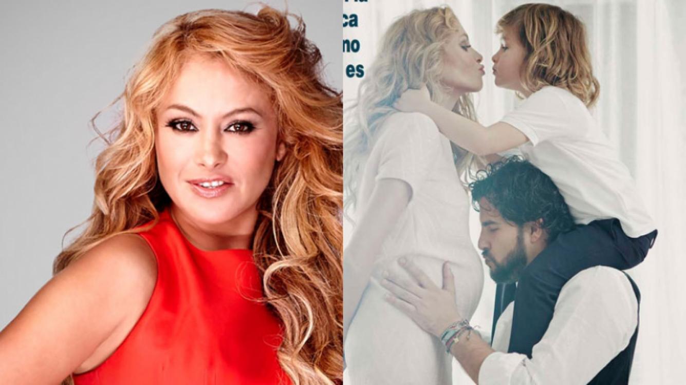 Paulina Rubio confirmó su embarazo (Fotos: Web y revista ¡Hola!).