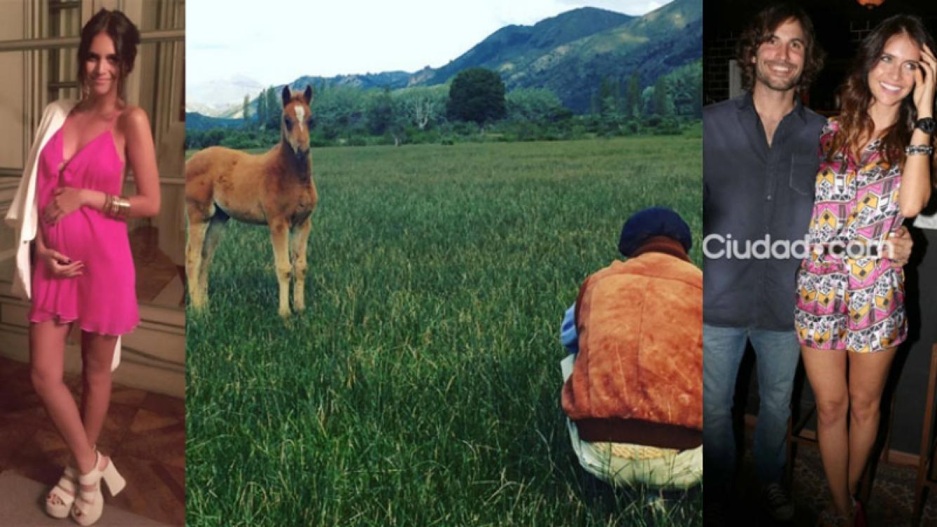 Zaira Nara y una hermosa postal de la potranquita para su beba (Fotos: Instagram y Archivo Ciudad.com).