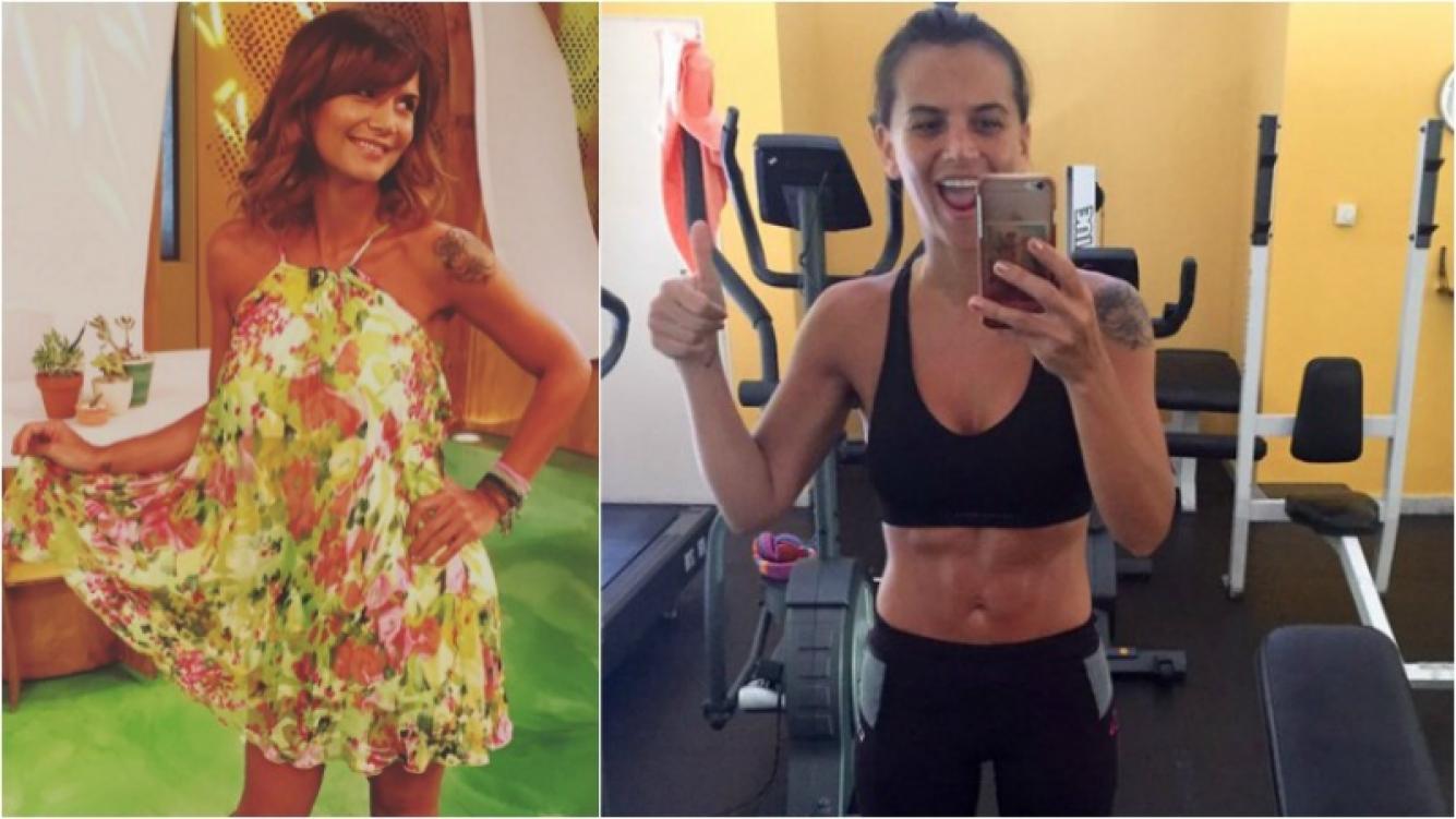 Amalia Granata en una selfie luciendo sus súper abdominales. Foto: Instagram