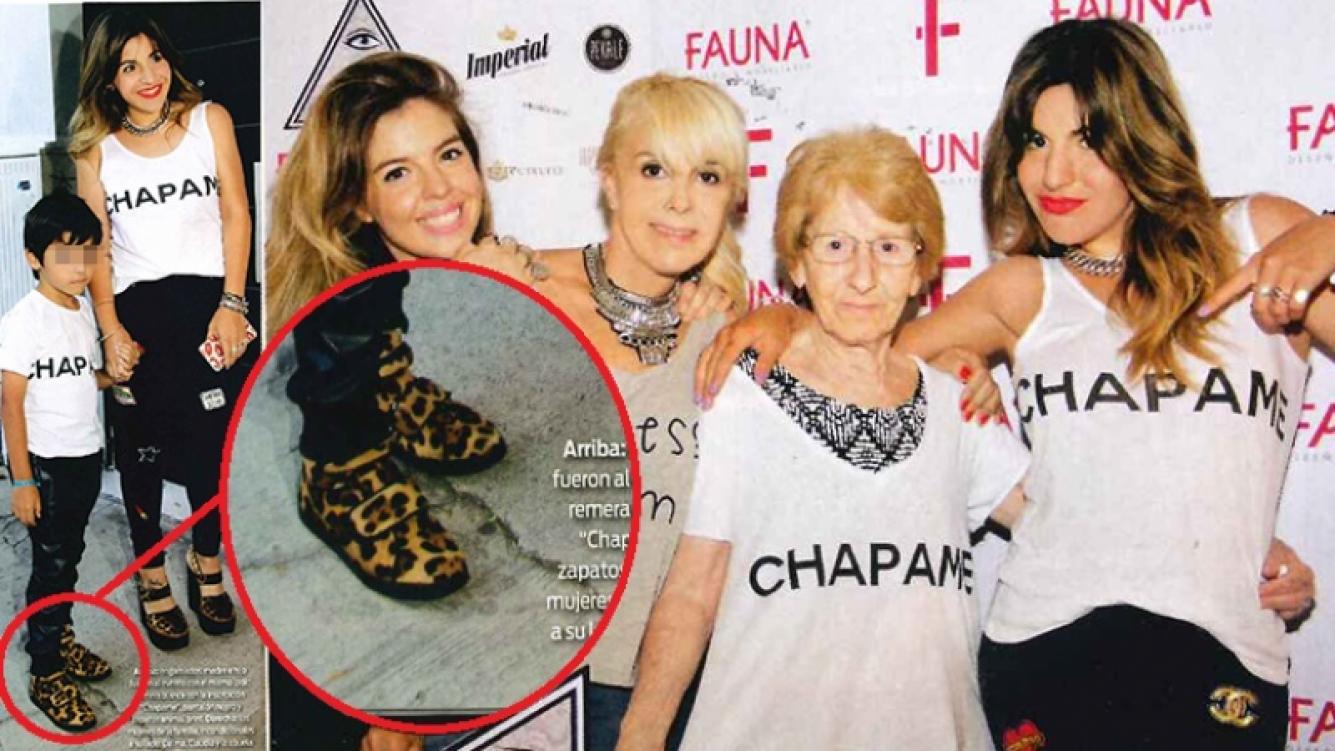 Benjamín Agüero y su original look para acompañar a Gianinna. Fotos: revista ¡Hola! Argentina.