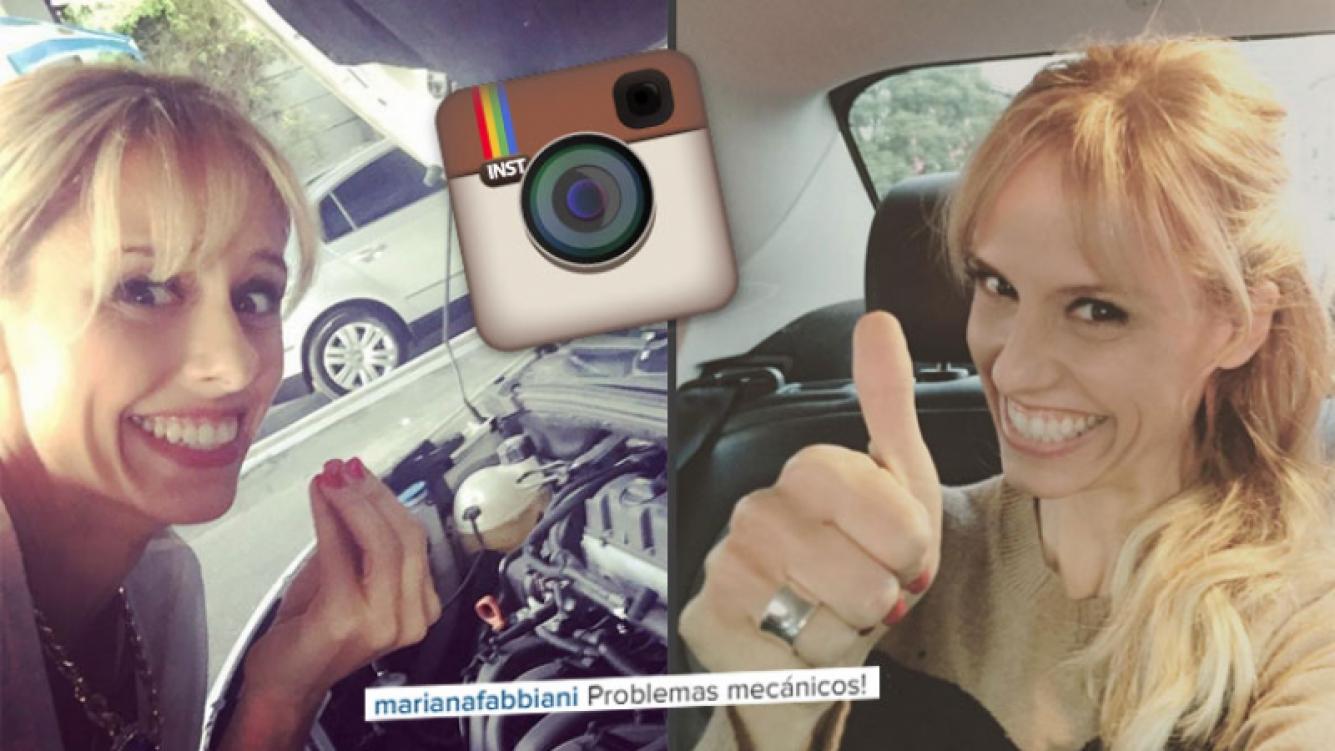 La divertida foto accidentada de Mariana Fabbiani. (Foto: Instagram)
