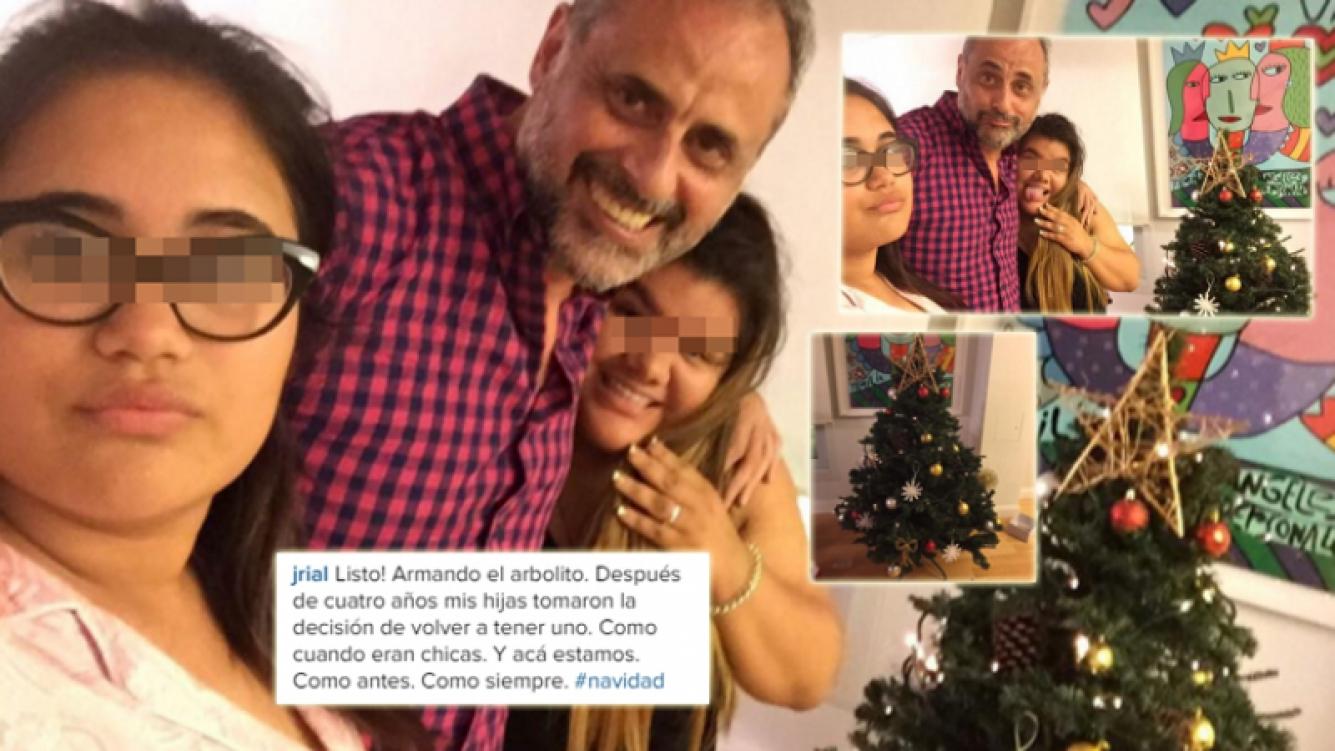 Jorge Rial y sus hijas armaron el árbol de Navidad (Foto: Instagram)