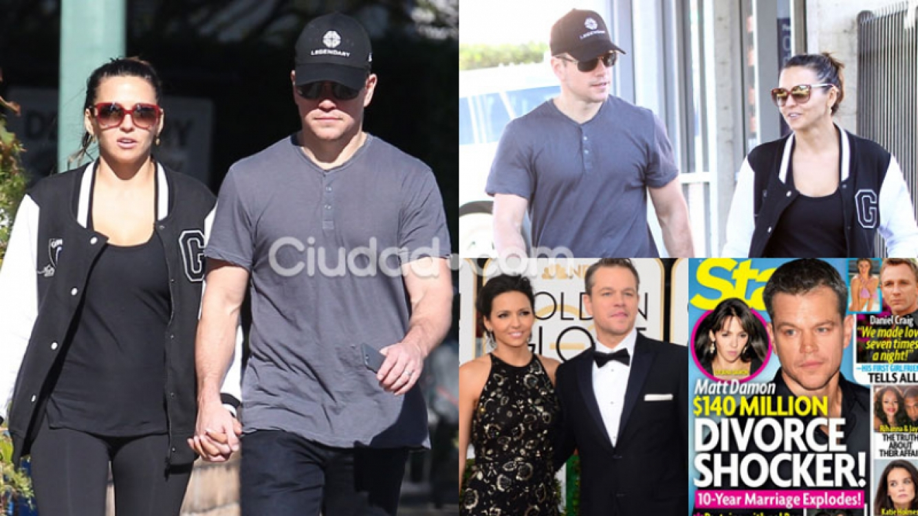 Matt Damon y Luciana Barroso, juntos en Los Angeles (Fotos: GrosbyGroup, AFP y Star).