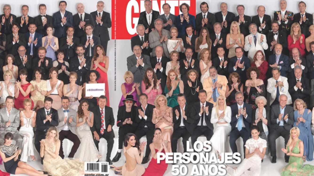 Los famosos más top en la gran portada de Los Personajes del Año (Fotos: Gente).