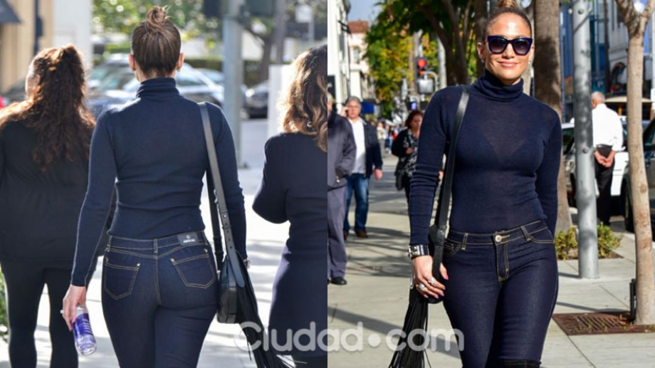 Jennifer Lopez, impactante en Beverly Hills (Fotos: GrosbyGroup).