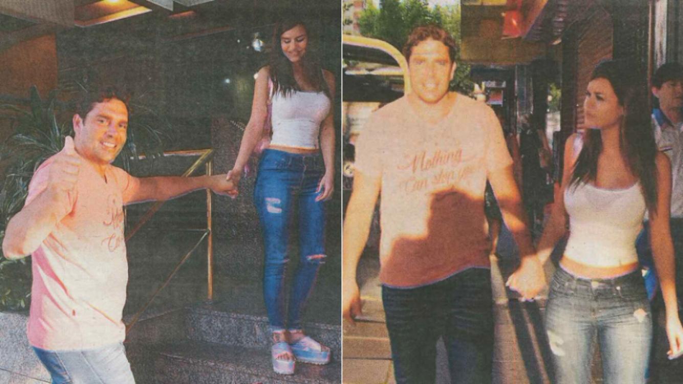 Matías Alé se mostró enamorado junto a su esposa (Foto: Diario Muy)