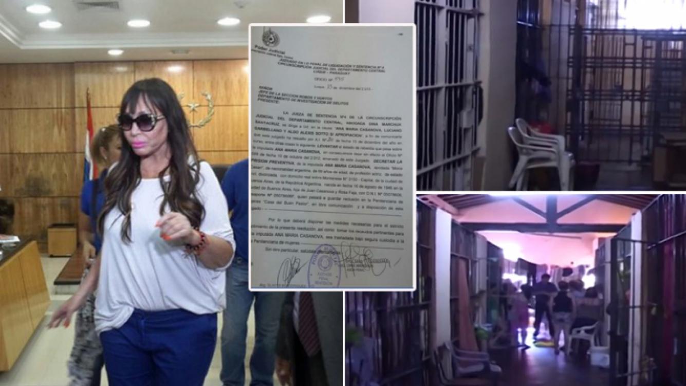 Moria Casán, con prisión preventiva en Paraguay. (Fotos: ABC.com y Twitter)