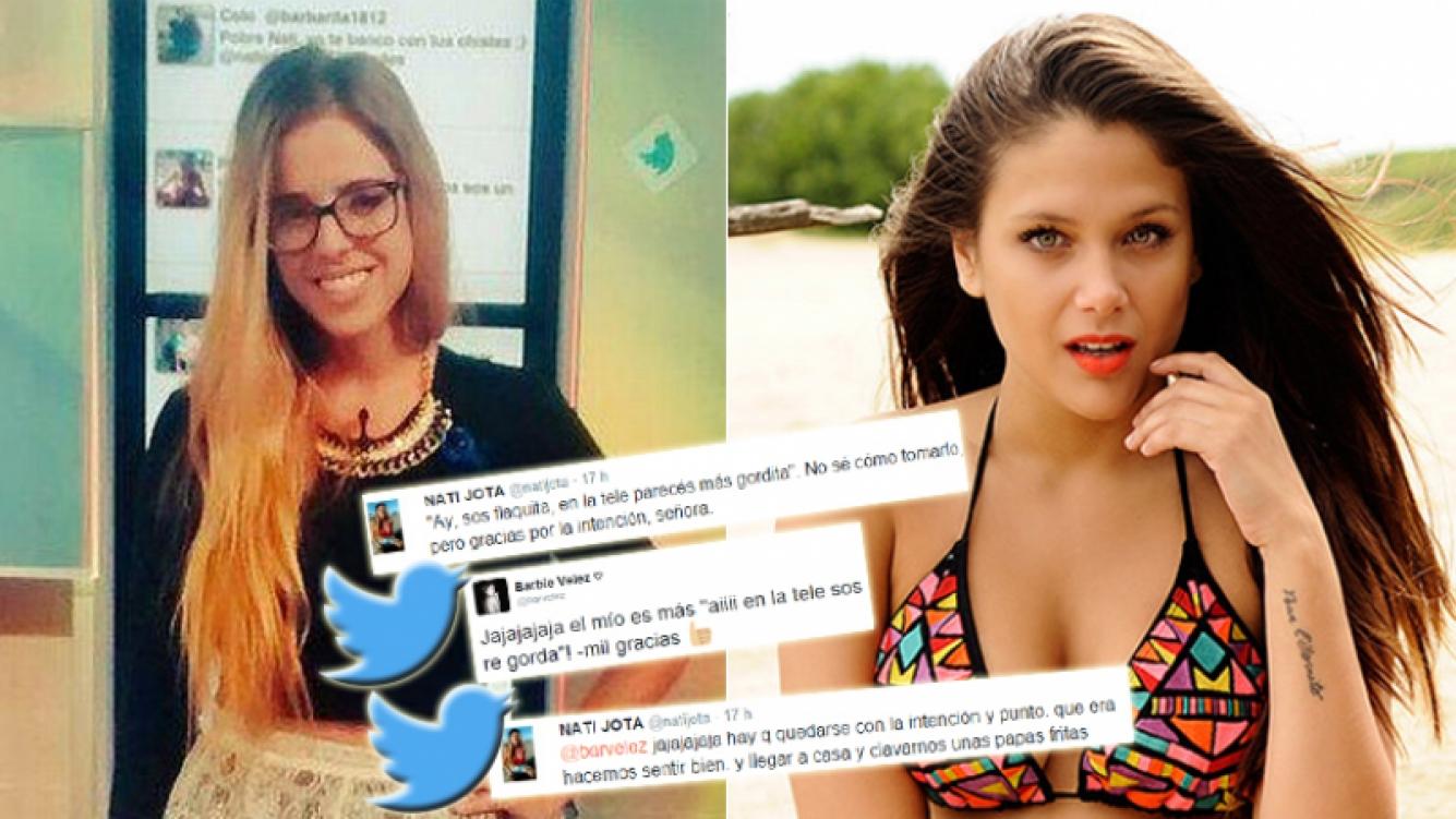 """Nati Jota y Barbie Vélez se toman con humor los """"piropos"""" callejeros (Foto: Twitter y web)"""