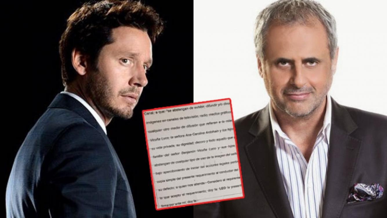 Benjamín Vicuña y Jorge Rial, enfrentadísimos (Fotos: Web).