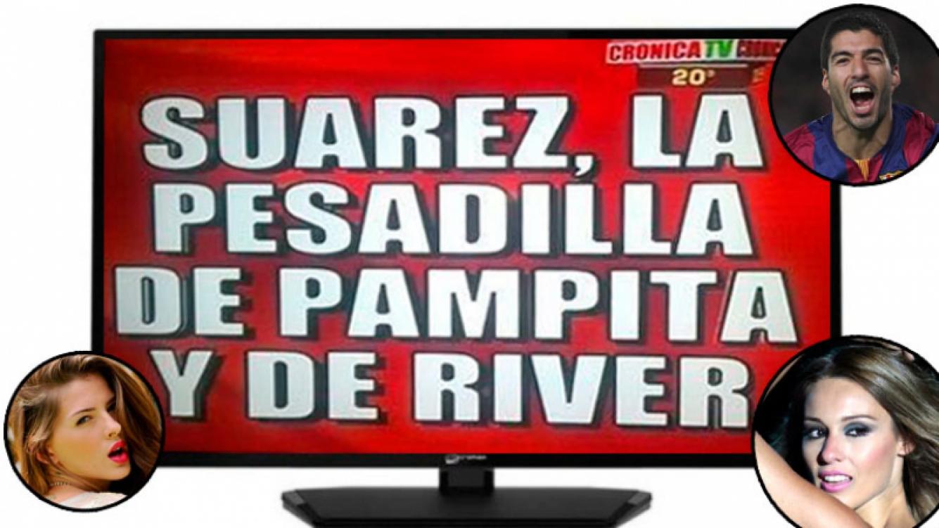 Mirá la placa roja de Cronica cuando Suárez le hizo el tercer gol a River. Foto: Web