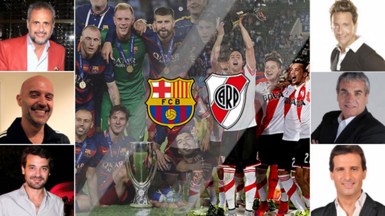 Los tweets de los famosos por la final del Mundial de Clubes entre River y Barcelona. (Foto: Web)