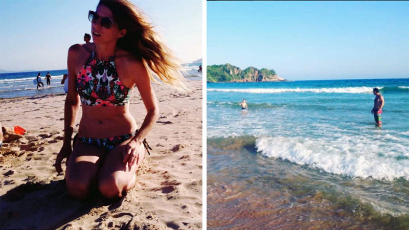 Florencia Bertotti en Brasil. (Foto: Instagram)