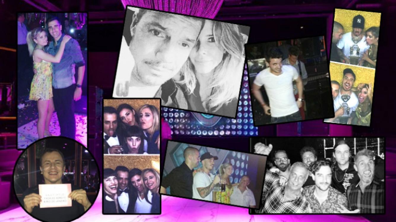 El equipo de ShowMatch se reunió a festejar tras la gran final (Fotos: Twitter e Instagram).