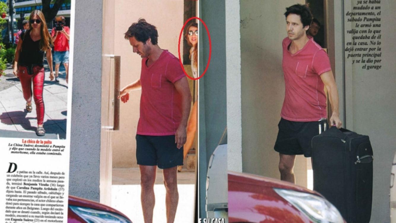 Benjamín Vicuña dejó la casa que compartía con Pampita (Foto: revista Pronto)
