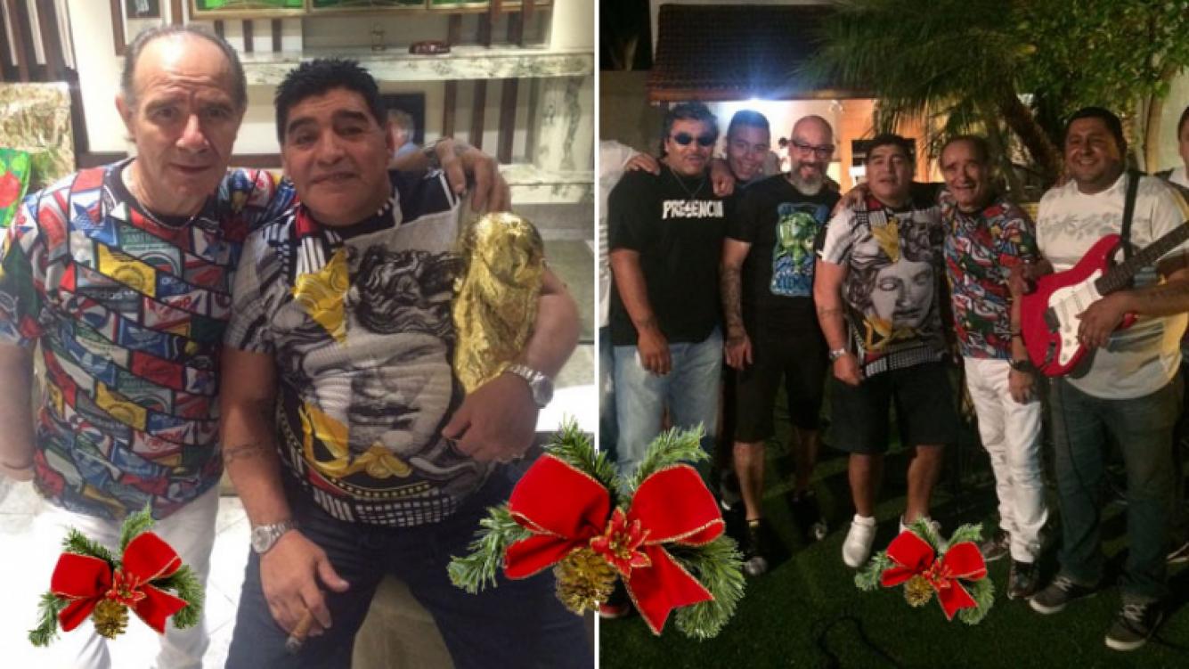 """La Navidad """"musical"""" de Diego Maradona. (Foto: Twitter)"""