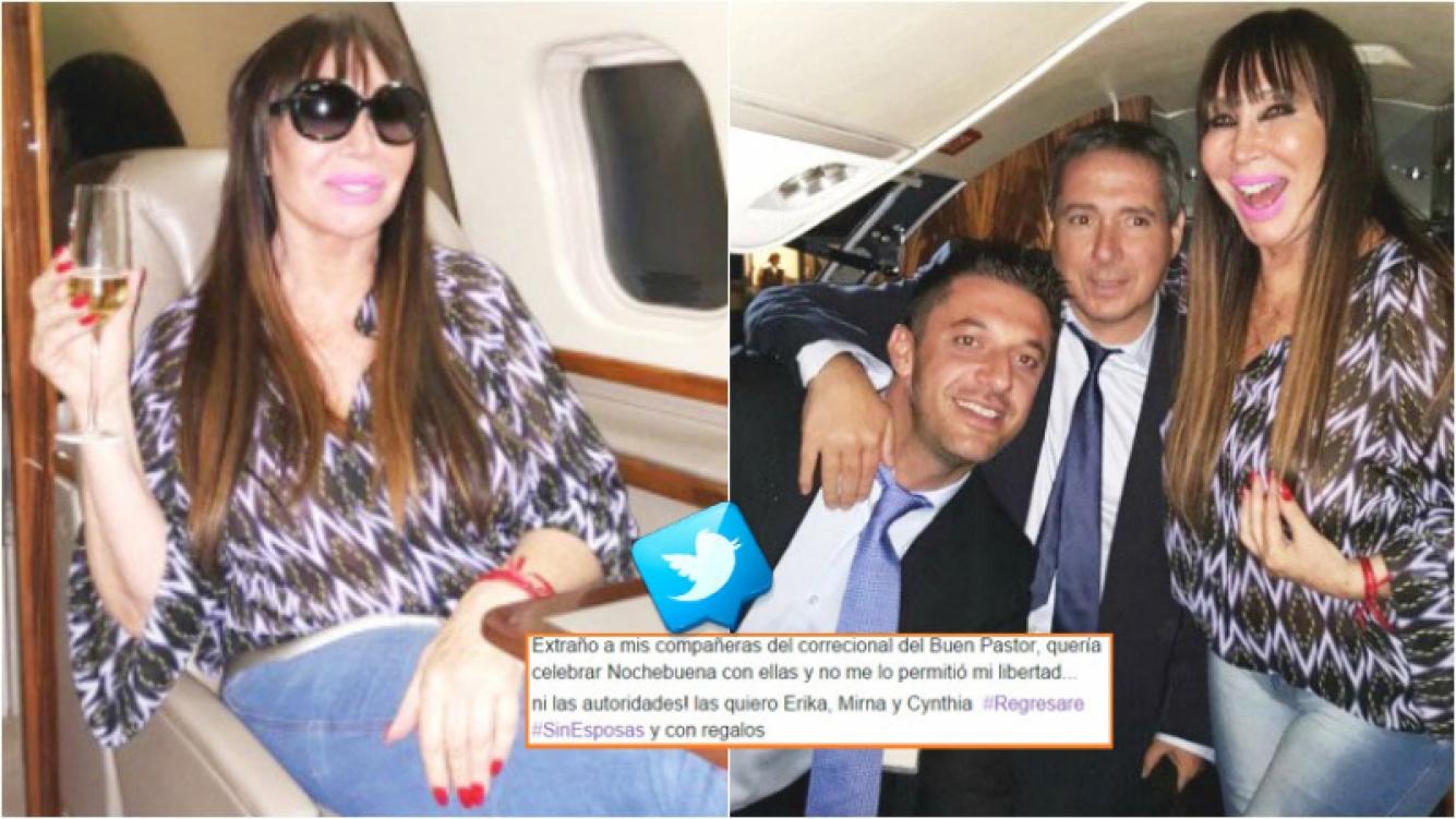 El saludo de Moria Casán a sus compañeras de celda cuando estuvo presa en Paraguay (Fotos: Twitter)