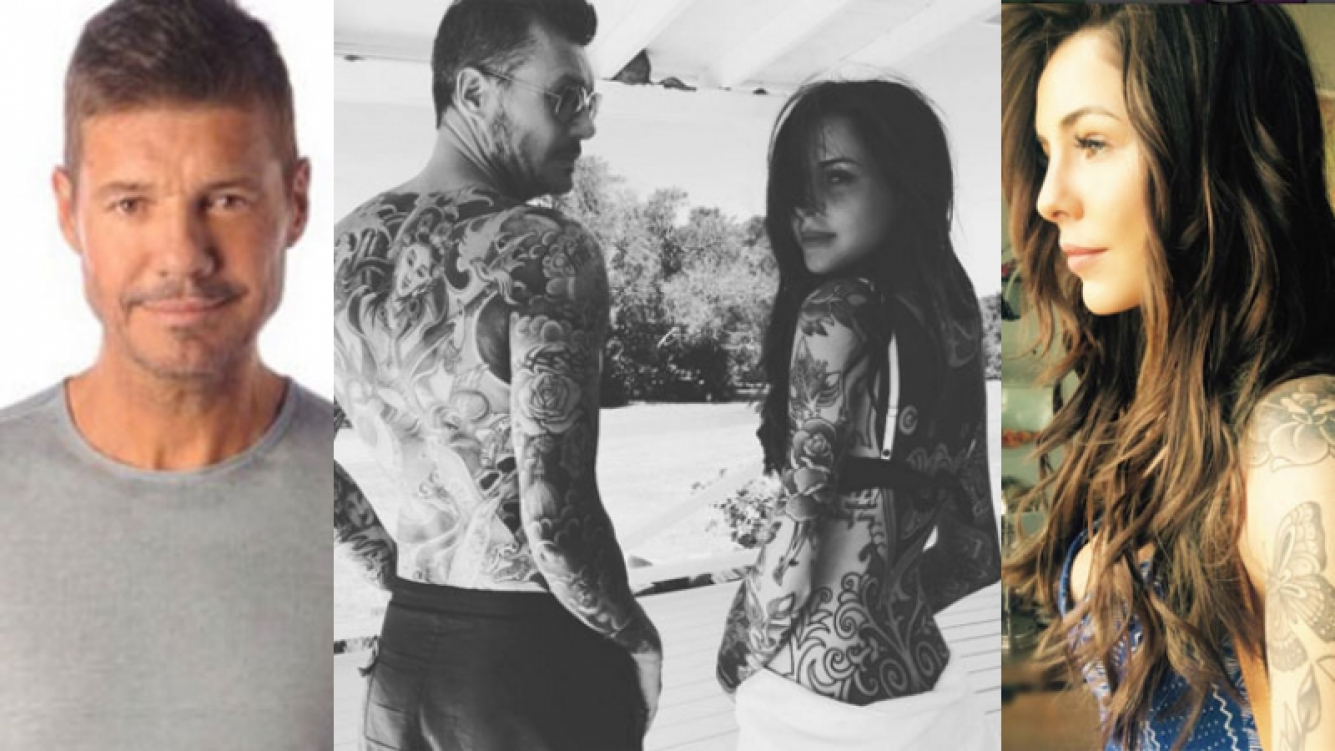 Marcelo Tinelli y Candelaria unidos por la pasión por los tattoos (Fotos: Intagram y Web).