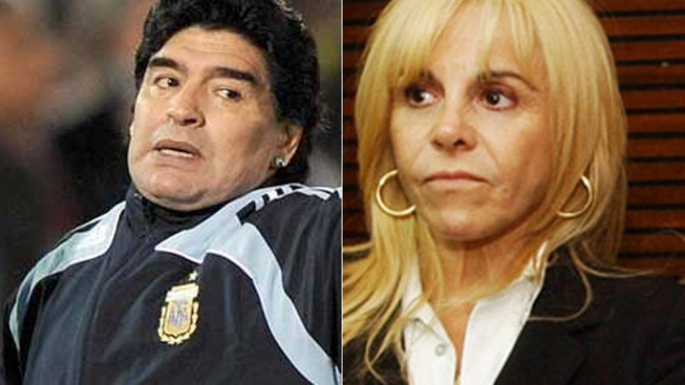 Maradona pidió en la Justicia anular la división de bienes con Claudia Villafañe (Foto: Web)